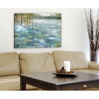 Portfolio 'Water Trees' Large Framed Printed Canvas Wall Art