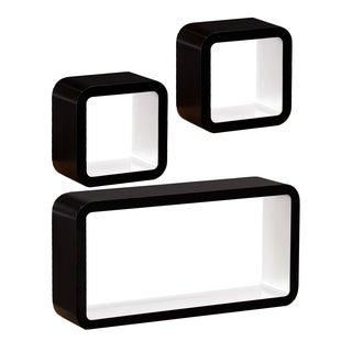 Upton Home Marrero Black/ White 3pc Shelf Set
