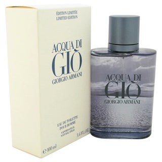 Giorgio Armani Acqua Di Gio Men's 3.4-ounce Eau de Toilette Spray (Blue Limited Edition)