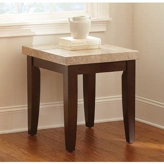 Malone Marble Top End Table