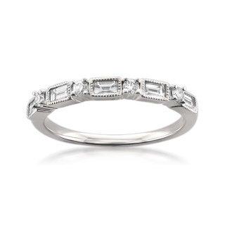 14k White Gold 1/2ct TDW Diamond Wedding Band (G-H, VS2)