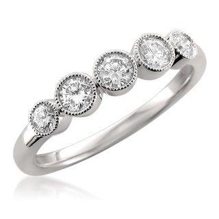 14k White Gold 1/2ct TDW Diamond Wedding Band (F-G, VS1)