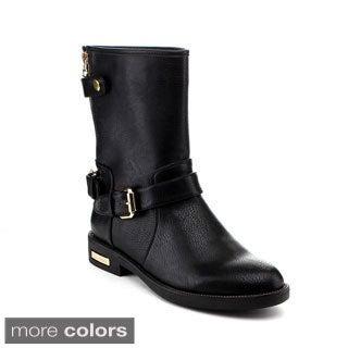 Reneeze Women's 'Janet-04' Buckled Mid-calf Rider Boots