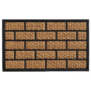 Brickmann Coir and Rubber Doormat (1'6 x 2'6)