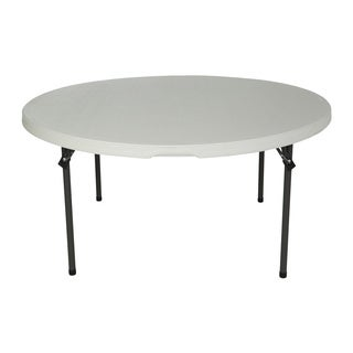 Lifetime 60-inch White Granite Round Commercial Folding Table (Set of 15)