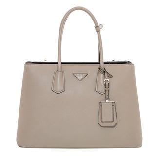 Prada Large City Calf Leather Turn-lock Satchel Bag