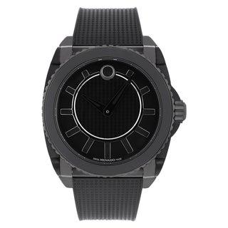 Movado Men's 0606363 Master Black Rubber Strap Watch