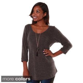 Hadari Women's Contemporary s Mid-sleeve Sweater Top