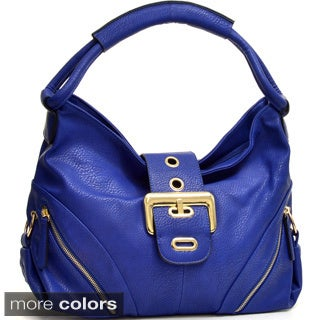 Dasein Large Buckle Bag with Side Zipper Pouches