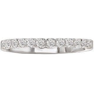 Avanti 14k White Gold 1/4ct TDW Diamond Wedding Band (G-H, SI1-SI2)