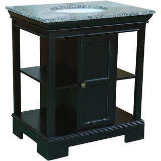 30-inch Wide Single Sink Bathroom Vanity in Black