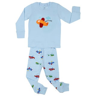 Elowel Boys' Airplane 2-piece pajama set (Size 2-8Y)