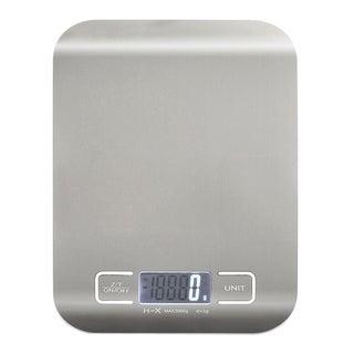 INSTEN Silver Handy Ultra-Slim 1-5000 Gram Digital Stainless Steel Kitchen Scale