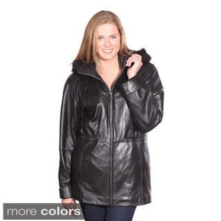 Christian Reed Women's Sonia Leather Parka