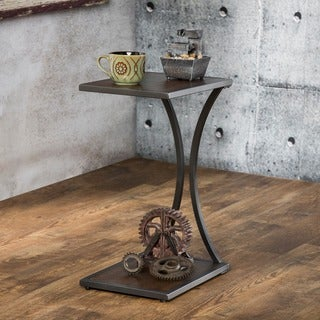 Furniture of America Thornewood Antique Oak Industrial Side Table