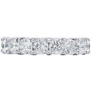 Amore Platinum 5ct TDW Diamond Wedding Band (G-H, SI1-SI2)