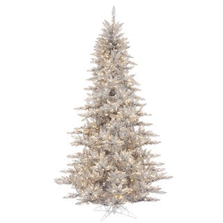 10-foot x 68-inch Silver Fir Tree with 1150 Clear Lights, 2980 Tips