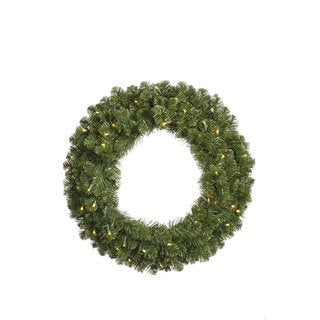 48-inch Grand Teton Wreath Dura-Lit with 200 Clear Lights