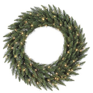 36-inch Camdon Fir Wreath Dura-Lit with 100 Clear Lights