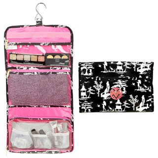 The Macbeth Collection Glamour Toiletry Hanging Travel Bag