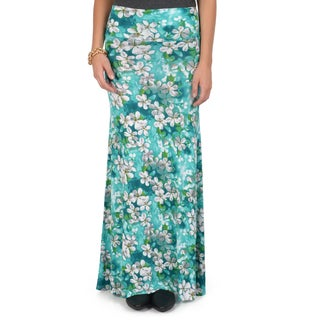 Hailey Jeans Co. Junior's Floral Printed Maxi Skirt