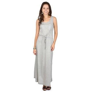 Hailey Jeans Co. Junior's Sleeveless Drawstring Accent Maxi Dress