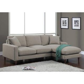 Shaffer Grey Fabric Two Piece Sectional Sofa