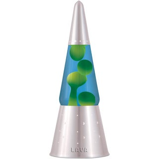 Wizard Yellow/ Blue 16.3-inch Lava Lamp with Silver Base