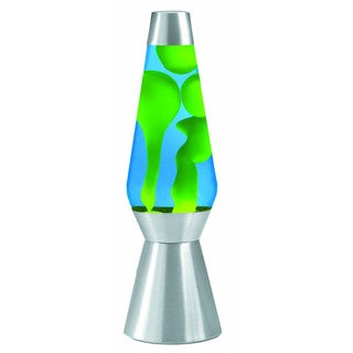 Grande Yellow/ Blue 27-inch Lava Lamp with Silver Base