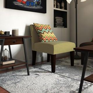 Laguna Chair in Basil Velvet with Espresso Legs