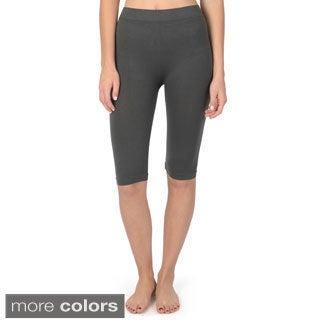 Hailey Jeans Co. Junior's Seamless Biker Bermuda Shorts