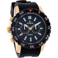 Fitron Men's Chornograph Black and Goldtone Stainless Steel Right Handed Watch