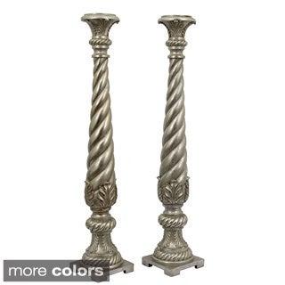 Elegant Twisted Pillar Candle Holders (Set of 2)