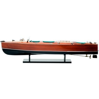 Red Vanilla Chris Craft Triple Speed Boat 32.25-inch Replica Model