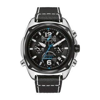 Bulova Men's 98B226 Stainless Steel Blue Dial Watch