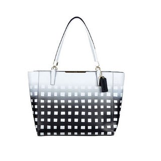 Coach 'Madison' Leather Gingham Tote