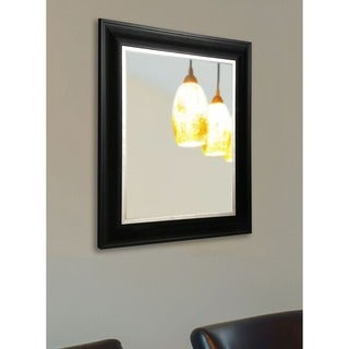 American Made Rayne Stately Black and Aged Silver Wall Mirror