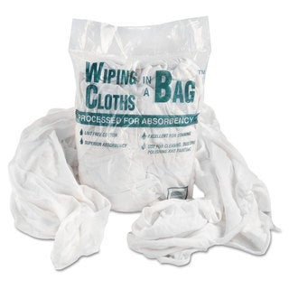 General Supply Bag-A-Rags Reusable Wiping Cloths/ Cotton/ White/ 1-pound Pack