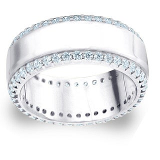 Amore Platinum 1ct TDW Railroad Diamond Anniversary Band (G-H, SI1-SI2)