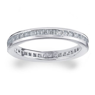 Amore Platinum 1ct TDW Diamond Eternity Wedding Band (G-H, SI1-SI2)