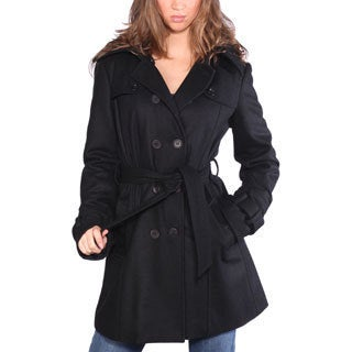 Wilda Women's 'Melissa' Black Wool Blend Parka