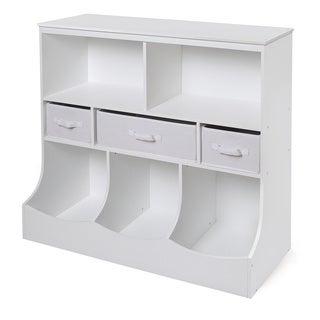 White 3-basket Storage Bin Unit