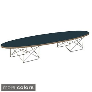 Wire Wood Black Coffee Table