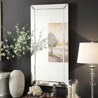 INSPIRE Q Bevel Mirrored Frame Rectangular Accent Wall Mirror