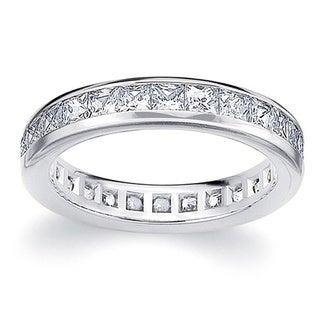 Amore Platinum 2ct TDW Princess Eternity Diamond Wedding Ring (G-H, SI1-SI2)