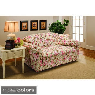 Stretch Jersey Floral Loveseat Slipcover