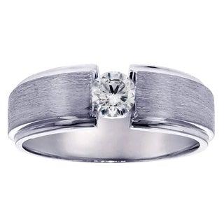 Gold or Platinum Men's 1/3ct TDW Diamond Wedding Ring (G-H, SI1-SI2)