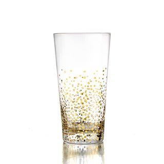 Fitz and Floyd Gold Luster Hiball Glasses