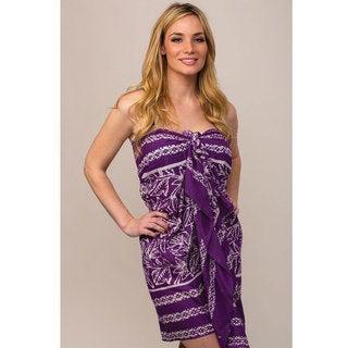 Purple Batik Sarong (India)