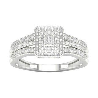 De Couer 10k White Gold 1/6ct TDW Diamond Composite Engagement Ring (H-I, I1-I2)